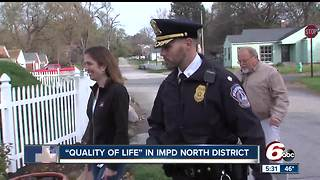 Police officers meet with residents to help them address quality of life issues - Video