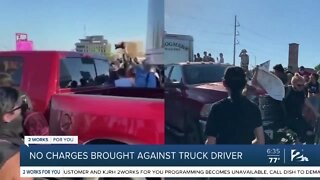 No charges brought against truck driver