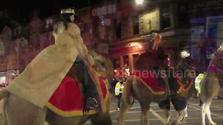 Perth Christmas Parade 2017 with real reindeer and camels - Video