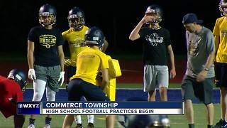 High school football practices begin in Commerce Township