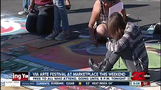 Chalk art on display at Via Arte Festival this weekend - Video