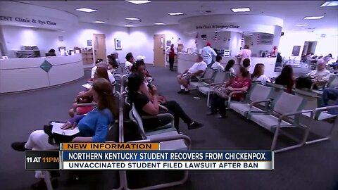 Unvaccinated student fighting chickepox ban caught it, is back in school