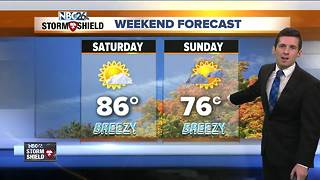 Warm and humid start to the weekend - Video