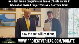 Donald Trump Congratulates Project Veritas for Winning Defamation Lawsuit Against New York Times