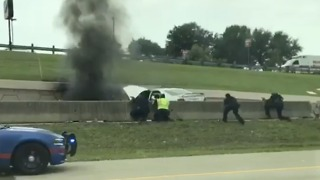 Semi-Trailer Catches Fire After Police Chase in Arlington