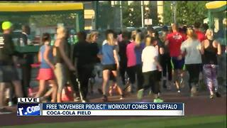 November Project Buffalo draws hundreds for free workouts - Video