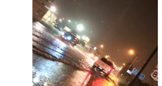 Roads Flooded in Weslaco, Texas, After Heavy Rainfall - Video