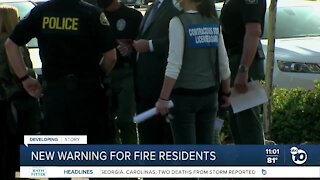 New warning for fire residents
