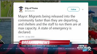 Mayor of Yuma declares state emergency