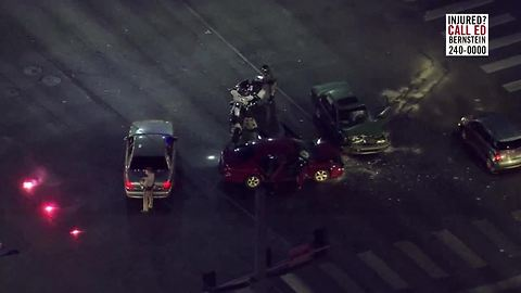 2 cars involved in head-on collision near Flamingo, Swenson