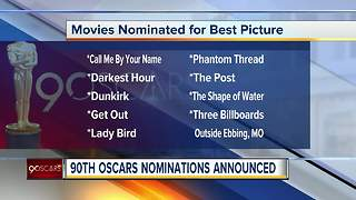 90th Oscars nominations announced Tuesday