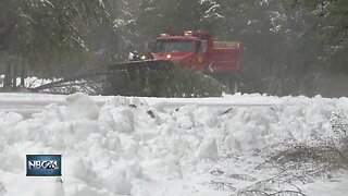 Snowy aftermath in Marinette County