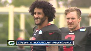 Reaction to petition to bring Colin Kaepernick to the Green Bay Packers - Video