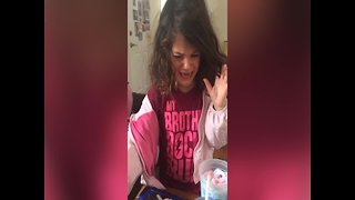 Little Girl has Surprising Reaction to Cotton Candy