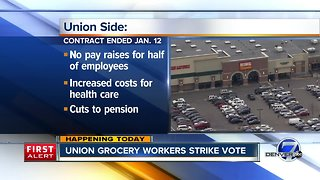 Union grocery store workers strike vote Thursday & Friday