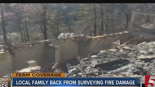 Local Couple Returns To Gatlinburg To Survey Fire Damage Of Property - Video