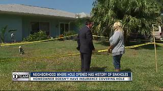 I-Team: Neighborhood where hole appeared in yard has history of sinkhole activity - Video