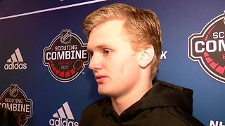 Casey Mittelstadt discusses 2017 NHL Draft - Video