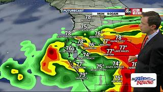 Low pressure west of Tampa has become Tropical Storm Emily - Video
