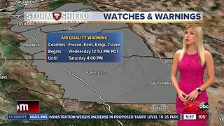 Worsening air quality and triple digit heat tomorrow - Video