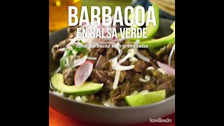 Barbecue in Green Sauce in Pressure Cooker