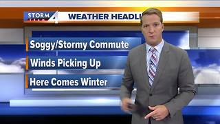 Soggy morning but mild Monday - Video