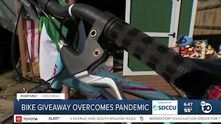 National City bike giveaway continues despite pandemic