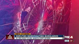 Deputies investigating burglaries - Video