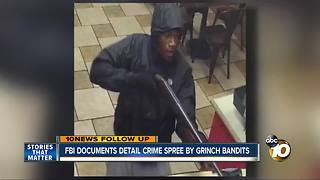 FBI documents detail crime spree by grinch bandits - Video