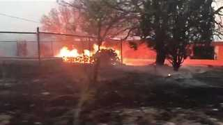 Arizona Woman's Video Shows Fire Threatening Homes as Residents Forced to Evacuate - Video