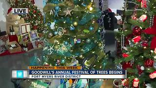 Goodwill's 11th annual Festival of Trees begins -- 7am live report - Video