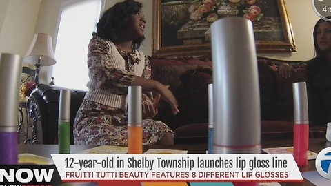 12-year-old launches lip gloss line