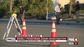 Crash kills pedestrian in Port Charlotte - Video