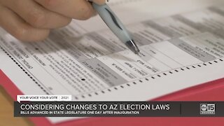 State lawmakers considering changes to Arizona election laws