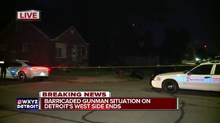 Barricaded gunman situation ends on Detroit's west side - Video
