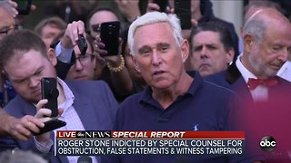 ABC News Special Report: Roger Stone says he will plead not guilty after his indictment