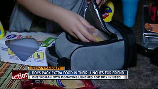 Two Pasco County students sharing sandwiches for student in need - Video