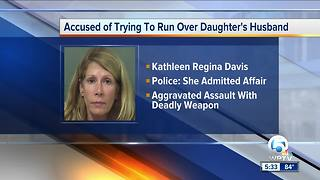 Jupiter woman charged with trying to run over daughter's husband