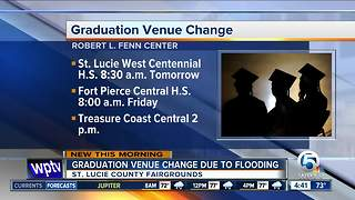 Flooding moves 3 graduations in St. Lucie County - Video