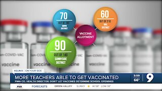 More teachers in Pima County are now able to get vaccinated