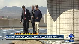 In Colorado, is the solar panel tariff a job creator or killer? - Video