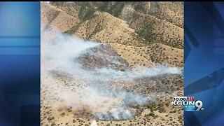 100-acre Woodward fire on the west side of the Huachucas - Video
