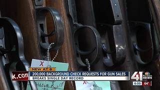 Background checks for guns spike on Black Friday - Video