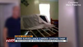 Homeowner catches daytime burglar in the act using free home surveillance app