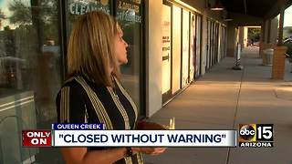 San Tan Valley dryer cleaners closes without warning - Video