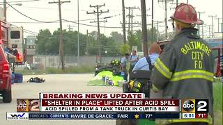 'Shelter in place' lifted after acid spill in Baltimore - Video