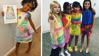 Drawings to dresses – kids artwork made into clothes
