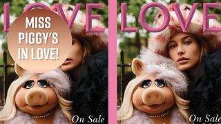 Miss Piggy joins Kendall Jenner for high fashion shoot - Video