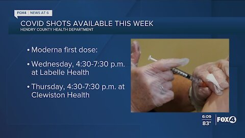 Vaccinations available in Hendry County this week