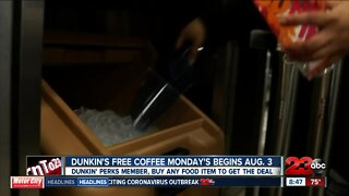 Dunkin Donuts brings back free coffee Monday's